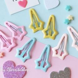 กิ๊บคู่ เนื้อ Jelly Star Candy Color HR9004