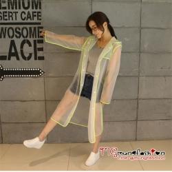 เสื้อกันฝนแฟชั่น ผ้านิ่ม Size M