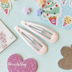 ชมพูอ่อน-กิ๊บคู่ กิ๊บเนื้อ Jelly Candy Color HR9005-LP