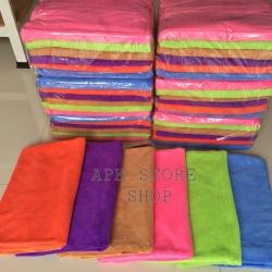 ขายส่ง ผ้าเช็ดตัวนาโน สีพื้น แบบหนา 70*140 cm ส่ง 49 บาท