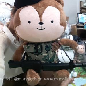 พร้อมส่งตุ๊กตา NEUKKUN descendants ชุดทหาร+หมวก+ปืน