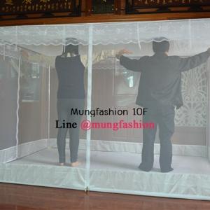 มุ้งซิป 10 ฟุต (ใหญ่พิเศษ) โครงมีตำหนิ ดูรูปด้านใน