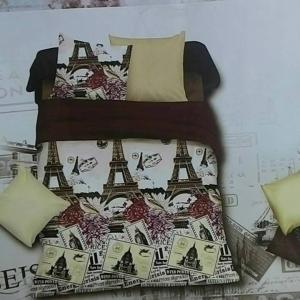 ขายส่ง ผ้าปูที่นอน+นวม 6 ฟุต 6 ชิ้น เกรด A ลายปารีส ส่ง 460 บาท
