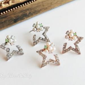 เลือกสีด้านในค่ะ ต่างหู Diamond Star ER4152