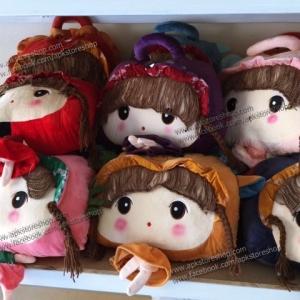 ขายส่ง ตุ๊กตาผู้หญิงผ้าห่มนาโน ส่ง 210 บาท