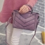 กระเป๋าแฟชั่น สีชมพูม่วง thumbnail 8