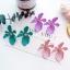 ต่างหูเกาหลี ต่างหู Orchid Flower Korea ER9631 thumbnail 3