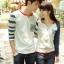 เสื้อคู่ เสื้อคู่รัก ชุดพรีเวดดิ้ง ชุดคู่รัก เสื้อคู่รักเกาหลี เสื้อผ้าแฟชั่น ผู้ชาย + ผู้หญิง เสื้อแขนยาวสีขาว ตัดด้วยแขนเสื้อลายฟ้าขาว ผลิตจากผ้าฝ้าย เนื้อนิ่ม หนา ใส่ สบาย งานจริงสวยๆมากค่ะ thumbnail 4