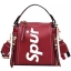 กระเป๋าถือ + สะพายข้าง LV SUPREME สีแดง thumbnail 5