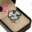 แหวนเงิน ประดับเพชร CZ แหวนทรงใบบัว ประดับเพชรกลมขาวล้อมรอบเพชรกลมดำ ดีไซน์สวยหรูดูแพง สวมใส่มิกซ์แอนด์แมตช์เข้ากับโอกาสต่างๆ thumbnail 2