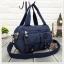 กระเป๋าเนื้อ kipling + สะพาย ใบเล็ก สีกรม thumbnail 1