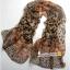 ผ้าพันคอชีฟอง เสือดาวสีน้ำตาล ( รหัส P48 ) thumbnail 1