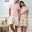 เสื้อคู่โปโล เสื้อคู่รัก ชุดพรีเวดดิ้ง ชุดคู่รัก เสื้อคู่รักเกาหลี เสื้อผ้าแฟชั่น ชาย-หญิง เสื้อโปโล สีชมพูสดใส ปกเสื้อสีขาว thumbnail 3