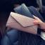 กระเป๋าสตางค์ทรงยาวลายหนังจระเข้ สีชมพูนู้ด thumbnail 2