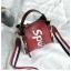 กระเป๋าถือ + สะพายข้าง LV SUPREME สีแดง thumbnail 4