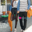 เสื้อคู่ เสื้อคู่รัก ชุดคู่รัก เสื้อคู่รักแขนยาวเกาหลี ผู้หญิง + ผู้ชาย เสื้อยืดกึ่งเสื้อเชิ้ตแขนยาว สีขาวลายเส้นขวางสีดำ แขนเสื้อผ้ายีนส์นิ่มดีไซน์แบบแขนเสื้อเชิ้ต thumbnail 7