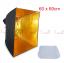 Umbrella softbox 60cm Gold thumbnail 1
