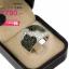 แหวนเงิน ประดับเพชร CZ หน้าแหวนทรงใหญ่ฝังเพชรกลมขาว เพิ่มดีเทลลายดอกไม้ฝังเพชรกลมดำ งานสวยหรูหรา ดีไซน์ใหญ่อลังการ thumbnail 2