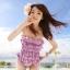 พร้อมส่ง / ชุดว่ายน้ำ นำเข้าสไตล์เกาหลี มีสีบานเย็น Size : M thumbnail 1