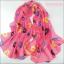 ผ้าพันคอผ้าชีฟอง ลายริมฝีปากสีชมพู ( รหัส P241 ) thumbnail 1