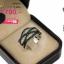แหวนเพชร ประดับ เพชรCZ แหวนดีไซน์คลาสสิคหน้าแหวนลายกากบาทไขว้ รูปทรงเพอร์เฟค แหวนเพชรสวยมากจนต้องบอกต่อ thumbnail 2