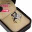 แหวนเพชร ประดับ เพชรCZ แหวนลายเส้นดัดผูกปมเป็นดอกไม้ ฝังเพชรกลมขาวและเพชรกลมดำ ดีไซน์ได้แตกต่างจากแหวนแนวอื่น thumbnail 2