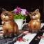 ตุ๊กตาไม้แกะสลักแมวไทย นั่งคู่ thumbnail 2