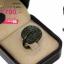 แหวนเงิน ประดับเพชร CZ แหวนทรงใบไม้ หน้าแหวนใหญ่ ฝังเพชรแวววาวและดูหรูหรา ด้วยเพชรทรงกลมดำจำนวนมากที่นำมาตกแต่งนั้นผ่านการเจียระไนอย่างประณีต สวยหรูดูแพง งานเวอร์วังอลังการ thumbnail 2