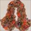 ผ้าพันคอผ้าชีฟอง สีส้ม ( รหัส P294 ) thumbnail 2