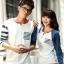 เสื้อคู่ เสื้อคู่รัก ชุดพรีเวดดิ้ง ชุดคู่รัก เสื้อคู่รักเกาหลี เสื้อผ้าแฟชั่น ผู้ชาย + ผู้หญิง เสื้อแขนยาวสีขาว ตัดด้วยแขนเสื้อลายฟ้าขาว ผลิตจากผ้าฝ้าย เนื้อนิ่ม หนา ใส่ สบาย งานจริงสวยๆมากค่ะ thumbnail 9