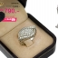 แหวนเงิน ประดับเพชร CZ แหวนทรงใบไม้ฝังเพชรกลมขาว แวววาวเพิ่มความเก๋ไก๋ฉลุตรงขอบใบ ก้านแหวนเรียว เลอค่ามีเสน่ห์ชวนหลงใหล thumbnail 2