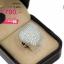 แหวนเงิน ประดับเพชร CZ แหวนทรงหัวใจนูน แวววาวและดูหรูหรา ด้วยการฝังเพชรทรงกลมจำนวนมากเต็มหัวใจ ตัวเรือนแหวนมีความประณีตสวยงามในทุกมิติมุมมอง thumbnail 2