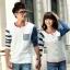 เสื้อคู่ เสื้อคู่รัก ชุดพรีเวดดิ้ง ชุดคู่รัก เสื้อคู่รักเกาหลี เสื้อผ้าแฟชั่น ผู้ชาย + ผู้หญิง เสื้อแขนยาวสีขาว ตัดด้วยแขนเสื้อลายฟ้าขาว ผลิตจากผ้าฝ้าย เนื้อนิ่ม หนา ใส่ สบาย งานจริงสวยๆมากค่ะ thumbnail 10