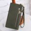กระเป๋าสตางค์ หนังกลับ สี Olive green (เขียวขี้ม้า) thumbnail 3