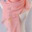 ผ้าพันคอผ้าชีฟอง ลายตัวอักษรสีชมพู ( รหัส P244 ) thumbnail 1