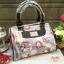 กระเป๋า Chalita wu + สายสะพาย สีเทา ลายดอกไม้ thumbnail 1