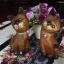 ตุ๊กตาไม้แกะสลักแมวไทยคู่ นั่งชูคอ thumbnail 3