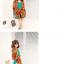 ผ้าพันคอชีฟอง สีส้ม ( รหัส P8 ) thumbnail 3