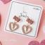 เลือกลายด้านในค่ะ ต่างหูเกาหลี ก้านเงินแท้ 925 Romantic Jewel Korea ER124 thumbnail 7