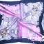ผ้าพันคอผ้าซาติน ลายเครื่องแต่งตัว Rose and Blue thumbnail 2