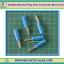 5x Male Banana Plug 4mm Connector Blue Color thumbnail 1