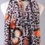 ผ้าพันคอผ้าชีฟอง ลายผีเสื้อส้ม ( รหัส P271 ) thumbnail 1