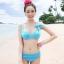 พร้อมส่ง / ชุดว่ายน้ำ นำเข้าสไตล์เกาหลี มีสีฟ้า Size : M thumbnail 1