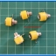 5x Female Yellow Color 4 mm Banana Jack Connector thumbnail 2