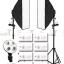 4 Holder (พร้อมหลอด) Light Set Promotion1 Day light Lamp E27 Bulb With Softbox thumbnail 1