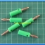 5x Male Banana Plug 4mm Connector Green Color thumbnail 2