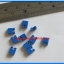 10x Mini Jumper 2 Pins Female Pitch 2.54mm Blue Color thumbnail 2