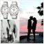 นาฬิกาคู่ชายหญิง นาฬิกาข้อมือ คู่ ชายและหญิง นาฬิกาข้อมือคู่ (Pair Watch) Couple Watches Set นาฬิกาคู่ ยี่ห้อ CASIO เรือนเงิน หน้าปัดขาว รุ่น 1303D-7B thumbnail 2