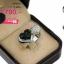 แหวนเงิน ประดับเพชร CZ แหวนทรงหัวใจ 2 ดวง เน้นความโดดเด่นโดยการฝังเพชรที่หัวใจฝังเพชรกลมดำ 1 ดวง และฝังเพชรกลมขาว 1 ดวง ดีไซน์เก๋ใส่สบายนิ้วมาก thumbnail 2