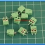 10x SCREW TERMINAL BLOCK 2 PINS Pitch 3.5 mm 300V/10A GREEN COLOR thumbnail 2